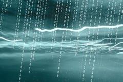 Fondo de los números binarios del ordenador del concepto Imágenes de archivo libres de regalías