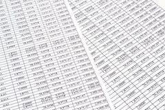 Fondo de los números en el papel de las hojas Fotografía de archivo libre de regalías