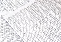Fondo de los números en el papel de las hojas Foto de archivo libre de regalías