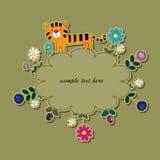 Fondo de los niños con el tigre Libre Illustration