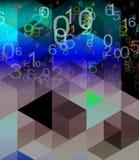 Fondo de los números abstractos Fotografía de archivo