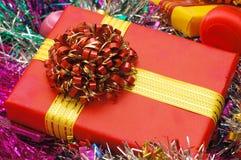 Fondo de los ornamentos de la Navidad Fotos de archivo