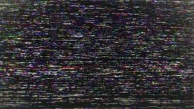 Fondo de los parásitos atmosféricos de la TV almacen de metraje de vídeo