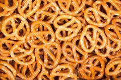 Fondo de los pretzeles Foto de archivo libre de regalías