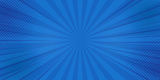 Fondo de los rayos de los tebeos con los tonos medios Vector libre illustration