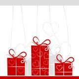 Fondo de los rectángulos de regalo para su diseño Imágenes de archivo libres de regalías
