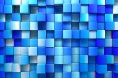 Fondo de los rectángulos azules Imágenes de archivo libres de regalías