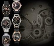 Fondo de los relojes para hombre Imagen de archivo