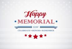 Fondo de los saludos de Memorial Day - celebre el honor recuerdan el tex ilustración del vector