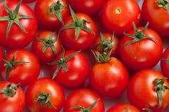 Fondo de los tomates de cereza Imágenes de archivo libres de regalías