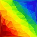 Fondo de los triángulos del arco iris Foto de archivo libre de regalías