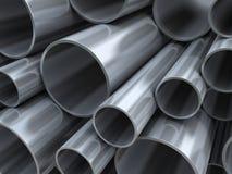 Fondo de los tubos de acero Fotos de archivo libres de regalías