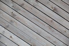 Fondo de los viejos tableros de madera diagonales Imagen de archivo libre de regalías