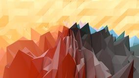 Fondo de Lowpoly con Rocky Surface libre illustration