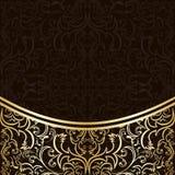 Fondo de lujo adornado por la frontera del oro. Imágenes de archivo libres de regalías