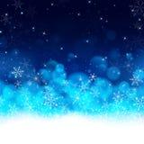 Fondo de lujo azul de la tarjeta de Navidad de la noche ilustración del vector
