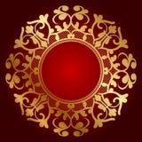 Fondo de lujo con el ornamento del oro libre illustration