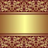 Fondo de lujo con la frontera ornamental de oro. Fotografía de archivo