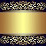 Fondo de lujo con las fronteras reales de oro. Imágenes de archivo libres de regalías