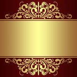 Fondo de lujo con las fronteras reales de oro. Imagenes de archivo