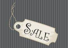 Fondo de lujo de la tela a rayas de la etiqueta de la venta Imagen de archivo libre de regalías