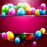Fondo de lujo del cumpleaños Foto de archivo libre de regalías