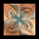 Fondo de lujo en el cuero Imagen de archivo