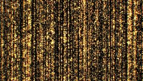 Fondo de lujo hermoso del oro con las estrellas y Dots Seamless el caer Animación colocada 3d de párticulas de polvo abstractas ilustración del vector