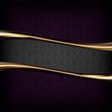 Fondo de lujo negro Imagen de archivo libre de regalías