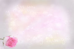 Fondo de luto con color de rosa y el mensaje imagenes de archivo