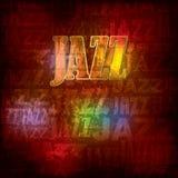 Fondo de madera abstracto con jazz de la palabra Fotos de archivo libres de regalías