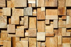 Fondo de madera adornado moderno cuadrado Fotografía de archivo