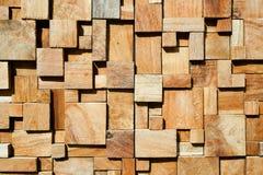 Fondo de madera adornado moderno cuadrado Foto de archivo