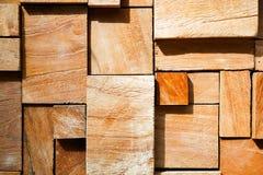Fondo de madera adornado moderno cuadrado Fotos de archivo
