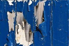 Fondo de madera azul Fotografía de archivo libre de regalías