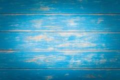 Fondo de madera azul Fotos de archivo