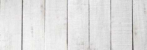 Fondo de madera blanco de la textura del tablón Foto de archivo