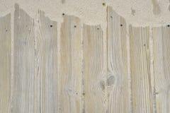 Fondo de madera con la arena Fotografía de archivo libre de regalías