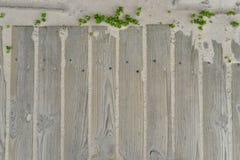 Fondo de madera con la arena Imágenes de archivo libres de regalías