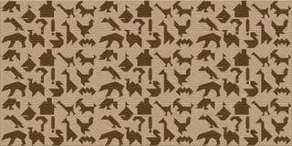 Fondo de madera con las siluetas de animales, y otros, tangr libre illustration