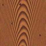 Fondo de madera con los nudos Foto de archivo libre de regalías