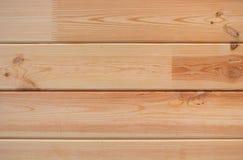Fondo de madera con los tableros horizontales Foto de archivo libre de regalías