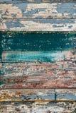Fondo de madera con los viejos tableros de madera pintados Foto de archivo libre de regalías