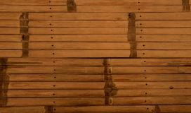 Fondo de madera de bambú de la textura Fotos de archivo