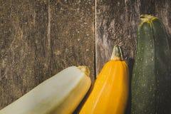Fondo de madera de la calabaza Foto de archivo libre de regalías