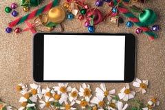 Fondo de madera de la Navidad y del Año Nuevo Fotos de archivo libres de regalías