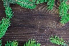 Fondo de madera de la Navidad y del Año Nuevo con el copia-espacio Fotos de archivo libres de regalías