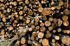 Fondo de madera de la pila Imágenes de archivo libres de regalías