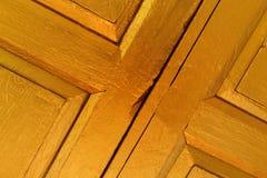 Fondo de madera de la pintura del oro Imágenes de archivo libres de regalías