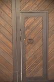 Fondo de madera de la puerta Imagen de archivo libre de regalías